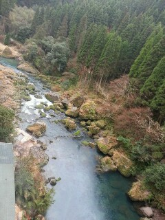華耀亭の部屋からの景色 川がきれい