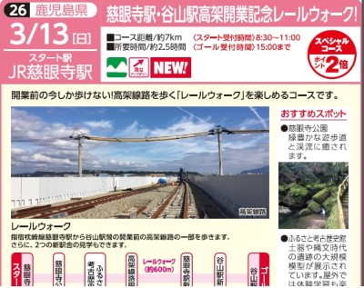 慈眼寺・谷山駅高架開業記念レールウォーク